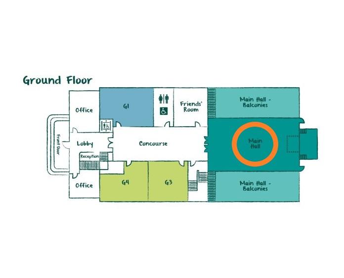 Main Hall - Ground Floor plan